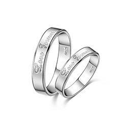 cheap Rings-Men's Women's Couple's Unisex Couple Rings Love Fashion Sterling Silver Costume Jewelry Daily