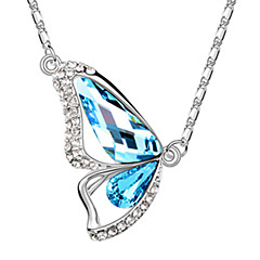 cheap Necklaces-Xingzi Women'S Butterdly Shape  Crystal 40Cm Necklace 6500