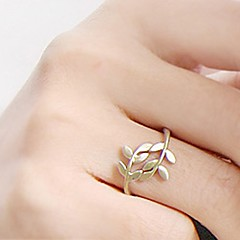 Women's Statement Rings Costume Jewelry Fashion Simple Style Alloy Leaf Jewelry For Party Daily Casual