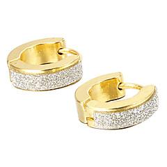 בגדי ריקוד גברים עגילים צמודים אופנתי תכשיטים פלדת על חלד פלדת טיטניום תכשיטים עבור Party יומי קזו'אל Christmas Gifts