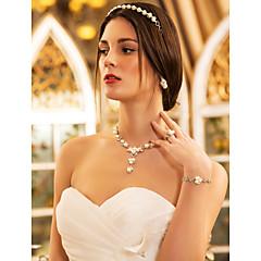 Dames Bergkristal Imitatie Parel Bruiloft Feest Verjaardag Verloving Legering