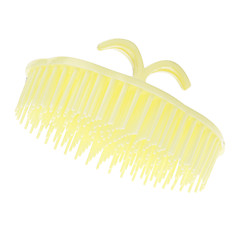 Yellow Rounded Shampoo Comb Cosmetic Beauty Care Makeup for Face