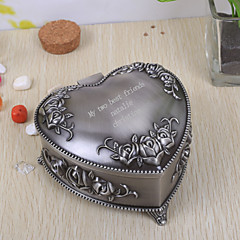 cheap Bride Gifts-Gifts Bridesmaid Gift Personalized Vintage Heart Shaped Tutania Jewelry Box