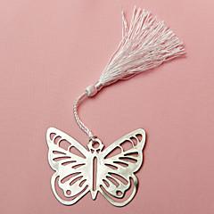 Oțel inoxidabil Favoruri practice Semne de Carte & Cuțite pentru Scrisori Temă Fluture Alb / Argintiu Panglici / Etichetă