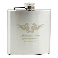 Personalized Stainless Steel Hip Flasks Wedding Gifts For bridegroom