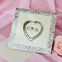 """Dobrado no Topo Convites de casamento 50-Cartões de convite Estilo Clássico Papel Acetinado 6""""×6"""" (15*15cm)"""