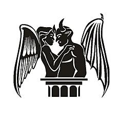 Angyal és Démon Pattern Dekoratív autós matrica