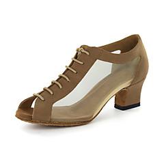 Women's Modern Ballroom Leatherette Sandal Chunky Heel Black Gold Customizable