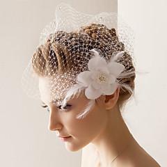 Véus de Noiva Uma Camada Véu Ruge 10-20cm Tule Branco Linha-A, Vestido de Baile, Princesa, Bainha/Coluna, Trompete/Sereia