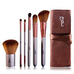 voordelige MSQ-6pcs professioneel Make-up kwasten Brush Sets Synthetisch haar / Kwast van geitenhaar Oog / 1 * Oogschaduwpenseel / 1 * wimperborstel