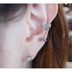 Kolczyki na sztyft Ear Cuffs Imitacja pereł Kryształ górski Stop Biżuteria Na Ślub Impreza Codzienny Casual