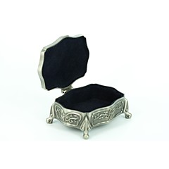 cheap Jewelry Boxes-Jewelry Boxes Alloy Silver Wedding Party Elegant Feminine Style