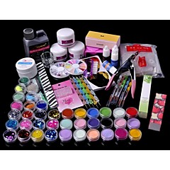 cheap Nail Tools & Equipments-71PCS Acrylic Powder Brush Glitter Clipper File Nail Set