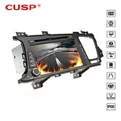 billiga DVD-spelare till bilen-8 tum 2 Din Windows CE 6.0 / Windows CE In-Dash DVD-spelare GPS / Pekskärm / Inbyggd Bluetooth för Kia Stöd / iPod / RDS / 3D-gränssnitt / Rattstyrning / Subwoofer-utgång