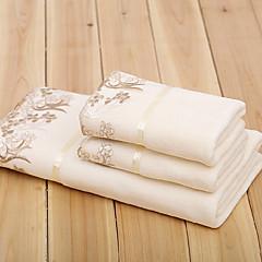 cheap Towels & Robes-Superior Quality Bath Towel Set, Solid Colored 100% Micro Fiber Bathroom