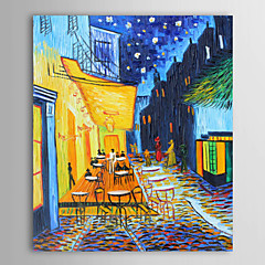 billiga Oljemålningar-Hang målad oljemålning HANDMÅLAD - Känd / Landskap Klassisk / Traditionell Inkludera innerram / Sträckt kanfas