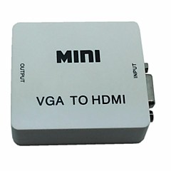 cheap -Mini Audio VGA to HDMI 1080P Converter Box Adapter with Audio USB Power for PC D