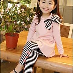 billige Tøjsæt til piger-Baby Pige Stribet Stribet Langærmet Kort Tøjsæt Mørkeblå 130