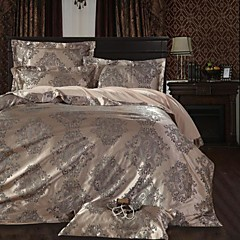 betterhome dekbedovertrek dekbedovertrek set comfortabele luxe moderne 4 stuk jacquard faux zijde vol