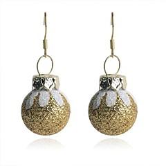 lureme mode glanzende poeder kerst golden geschilderd eierschaal lichtmetalen oorbellen