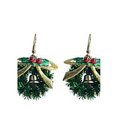 lureme mode bakselvernis strik kerst ring lichtmetalen oorbellen