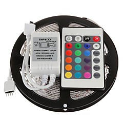 5m Flexible LED Light Strips / Light Sets / RGB Strip Lights LEDs 5050 SMD Remote Control / RC / Cuttable / Dimmable 12 V / Linkable / Self-adhesive / IP44