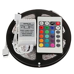 billiga Dekorativ belysning-5m Flexibla LED-ljusslingor / Ljusuppsättningar / RGB-ljusslingor lysdioder 5050 SMD Fjärrkontroll / Klippbar / Bimbar 12 V / Kopplingsbar / Självhäftande / IP44