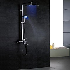 charmingwater színváltó LED zuhany csaptelep 8 inch zuhanyfej + kézi zuhany