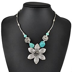 Mulheres Turquesa Formato de Flor Turquesa bijuterias Jóias Para