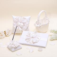 elegantní krásná květinová sada kolekce s saténovým svatebním obřadem