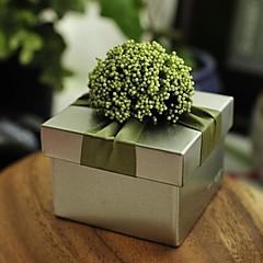 baratos Suporte para Lembrancinhas-Redonda Quadrada Cúbico Ferro (niquelado) Suportes para Lembrancinhas com Fitas Estampado Flor Caixas de Ofertas Caixas de Presente