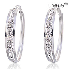 cheap -Women's Crystal Imitation Diamond Hoop Earrings - Circle For Party Daily