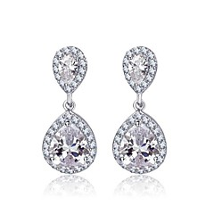 cheap Earrings-Women's Cubic Zirconia Brass Drops Jewelry Costume Jewelry