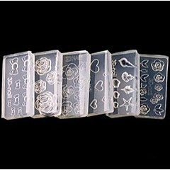 billiga Nagelvård och nagellack-5 pcs 3D Akrylform för Naglar Vackert nagel konst manikyr Pedikyr Dagligen Blomma / Tecknat / Mode / Akrylfiber