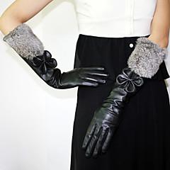 フェザー/ファー レザー 肘丈 グローブ パーティー/イブニング手袋 冬物手袋 With リボン