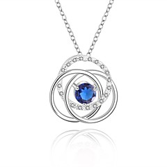 cheap Necklaces-Women's Children's Round Shape Silver Wedding Party Anniversary Birthday Engagement Gift Costume Jewelry