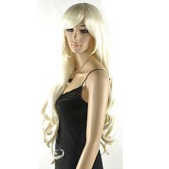 tanie Peruki syntetyczne-Peruki syntetyczne Blond Fryzura cieniowana Włosy syntetyczne Blond Peruka