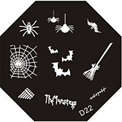 Nail Art Stamp Stamping Image Template Plate D Series NO.22