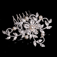 cheap Hair Jewelry-Crystal Fabric Alloy Tiaras Hair Combs 1 Wedding Special Occasion Party / Evening Casual Headpiece