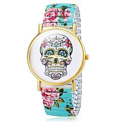 Women's Bracelet Watch Quartz Analog Skull Dial Flower Band Cool Watches Unique Watches Strap Watch