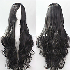 cheap Wigs & Hair Pieces-Synthetic Wig Curly Synthetic Hair Wig Capless Black Black