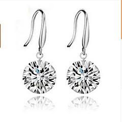 naisten hopea pisara korvakorut timantti klassinen naisellinen tyyli