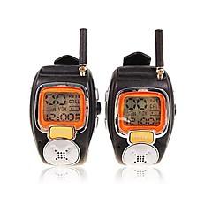お買い得  トランシーバー-22チャンネルは、大きなバックライトLCDスクリーンと対トランシーバー腕時計スタイルをスリヴァー
