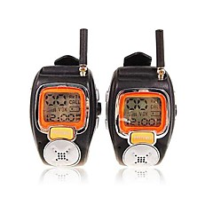 billige Walkie-talkies-22 kanaler sliver armbåndsur stil et par walkie talkie med stor bakgrunnsbelysning LCD-skjerm