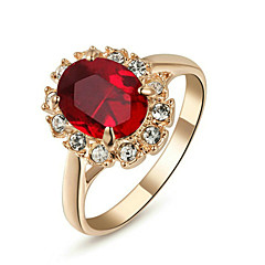 Statement Rings Crystal Imitation Ruby Imitation Diamond Simulated Diamond Alloy Birthstones Classic Jewelry Wedding Party Daily Casual