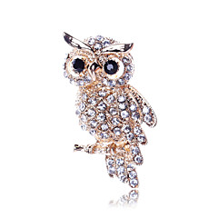 cheap Brooches-Women's Crystal Brooches - Fashion Golden Brooch For Party / Daily / Casual