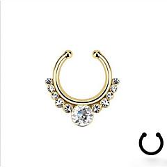 tanie Piercing-Kryształ Pierścień nosowo-nosowy / kolczyk w nosie / Piercing nosa - Imitacja diamentu Unikalny, Modny Damskie Srebrny / Złoty Biżuteria Na Codzienny / Kryształ górski