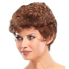 tanie Peruki syntetyczne-Kobieta Peruki syntetyczne Krótki Golden Brown Halloween Wig Karnawałowa Wig Costume Peruki