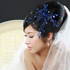 cheap Party Headpieces-Women Alloy Flowers With Rhinestone Wedding/Party Headpiece(More Colors)