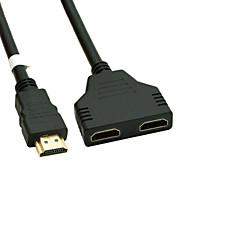 vergulde HDMI v 1.4 man naar dual HDMI vrouwelijke adapter splitter kabel